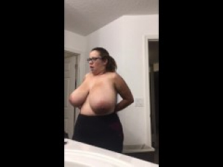 Nudist Wife's Morning Routine Being Nude With Giganticly Wonderful Titties