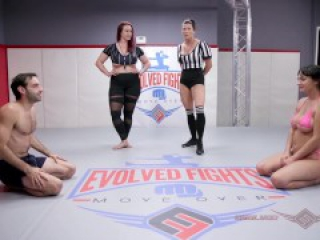 Busty Charlotte Cross owned and fucked by Jake Adams in nude wrestling