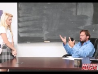 Cute Blonde High School Girl Sexting With Teacher Gets Fucked