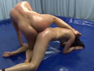 Oil Wrestling Nude Lesbian Pussy Play