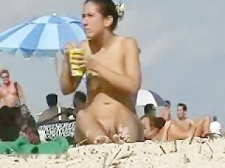 Western Tourists fawning over Big Dick Black Dravidian at Goa Nude Beach