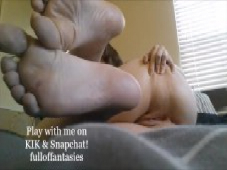 Play with me on KIK & Snapchat FOOT FETISH FUN! Compilation!